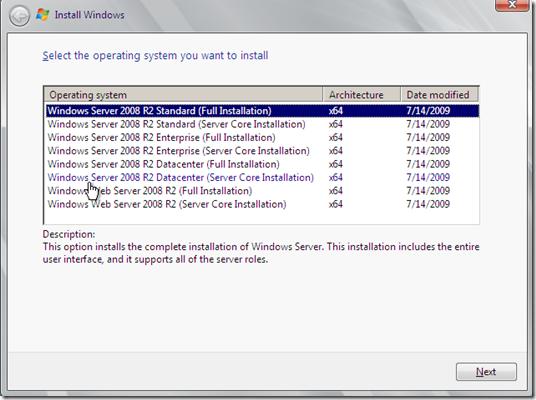 Windows Server 2008 R2 Standard Full Installation