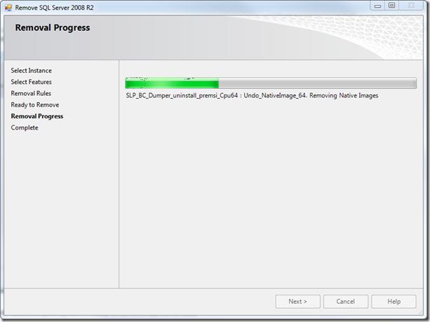 Removal of SQL Server 2008 R2
