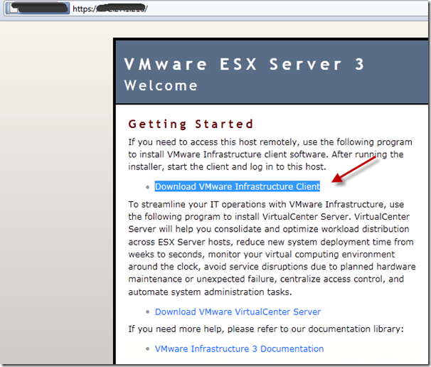 Download VMware Infrastructure Client