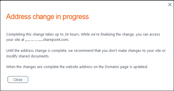 address_change_in_place_sharepoint_online