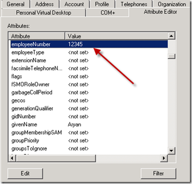 Employee Number Attribute in Active Directory