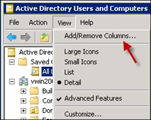 ADUC Add Remove Columns