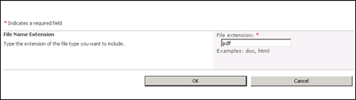 File Extension PDF in Sharepoint 2010