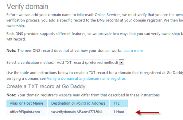 Go-Daddy-SharePoint-Online-Custom-Domain-verify-domain-4