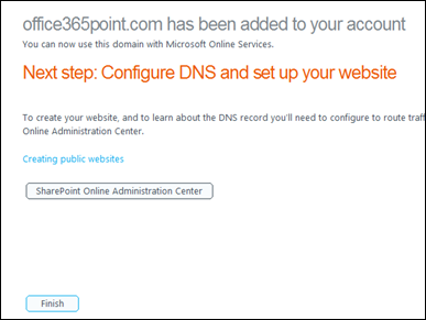 Office 365 Configure DNS