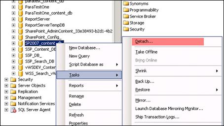 detach_database_from_sql
