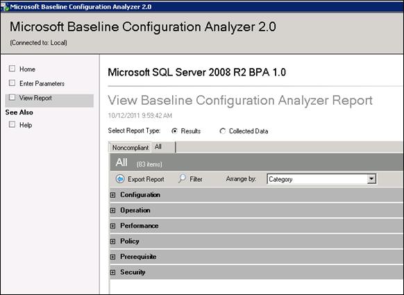 Microsoft SQL Server 2008 R2 BPA