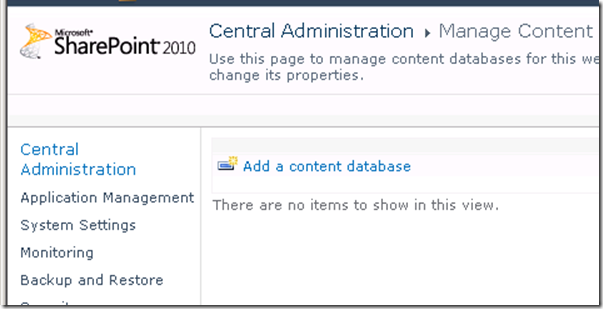 removed content database from SharePoint 2010