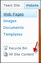 All Site Contents SharePoint Online
