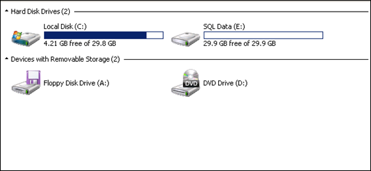 Second drive in HyperV virtual machine