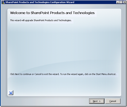 SP3 Upgrade for SharePoint 2007