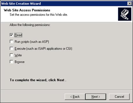 Web site access permissions