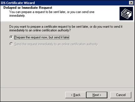 Delayed or Immediate SSL request