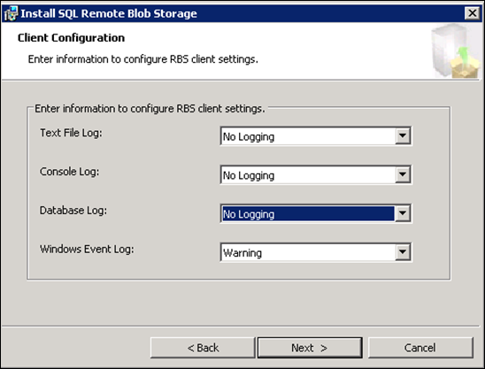 Remote Blob Storage Client Configuration