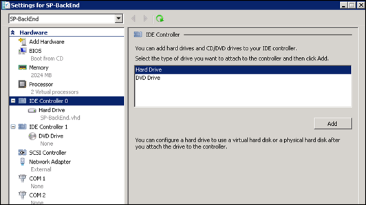 Adding new hard drive to hyperv