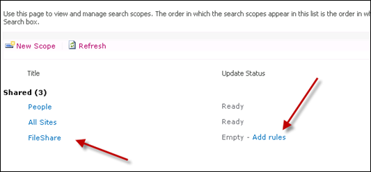 Add rules to Search Scope