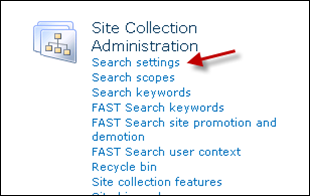 SharePoint 2010 Search Settings