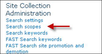 Search Scopes  SharePoint 2010