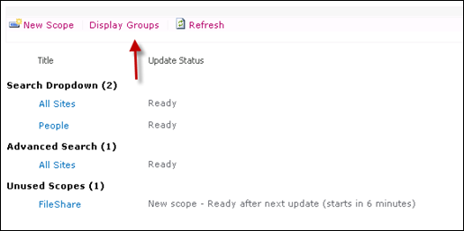 Display Groups Scope