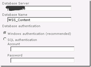 Database Name and Authentication