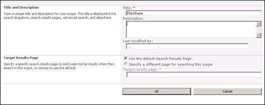 Create Search Scopes in SharePoint 2010