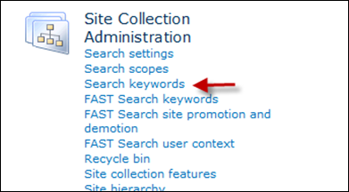 Setting up SharePoint best bet search