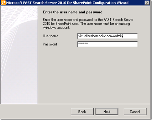 Fast Search 2010 for SharePoint installation Issure
