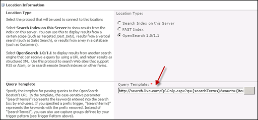 Query Template in SharePoint 2010 Search