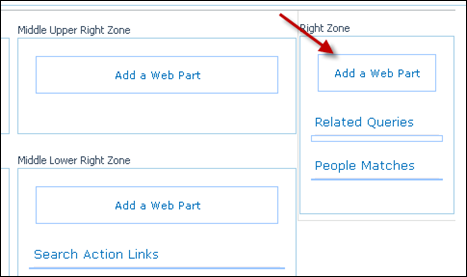 adding federated Search to right zone