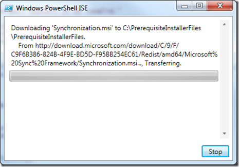 Downloading SharePoint 2010 prerequisite in a folder