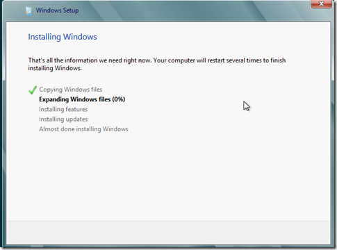 Windows 8 Consumer Preview  installing Window