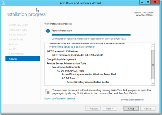 Active Directory 2012 Installation active-directory-installation-results-