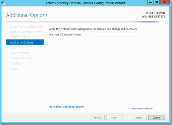 Active Directory 2012 Installation - Additional-options-13