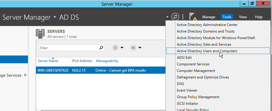 Creating active directory users