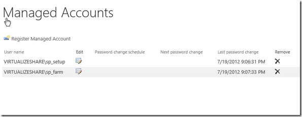 Configure Managed Accounts in SharePoint 2013