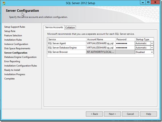 SQL Server 2012 Server Configuration