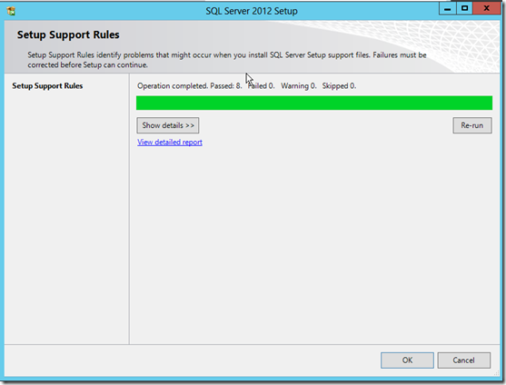 Setup Support Rules for SQL Server 2012