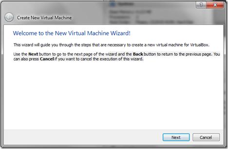 Create new Cloudera Hadoop virtual machine