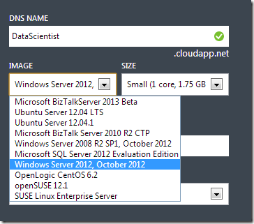 Windows Server 2012 Image