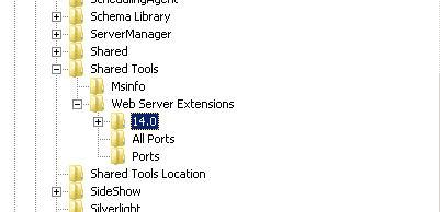 Delete all the folders under 14.0