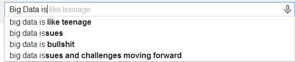 Big Data is like.... According to Google
