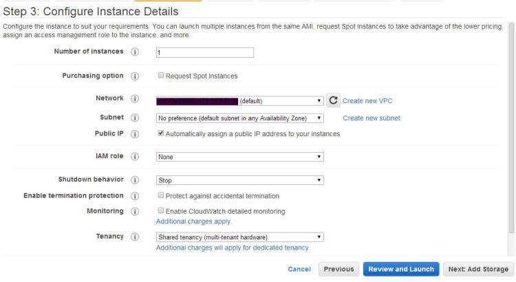 aws configure instance details