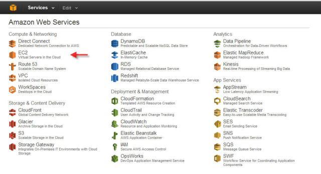 AWS Virtual Servers in Cloud