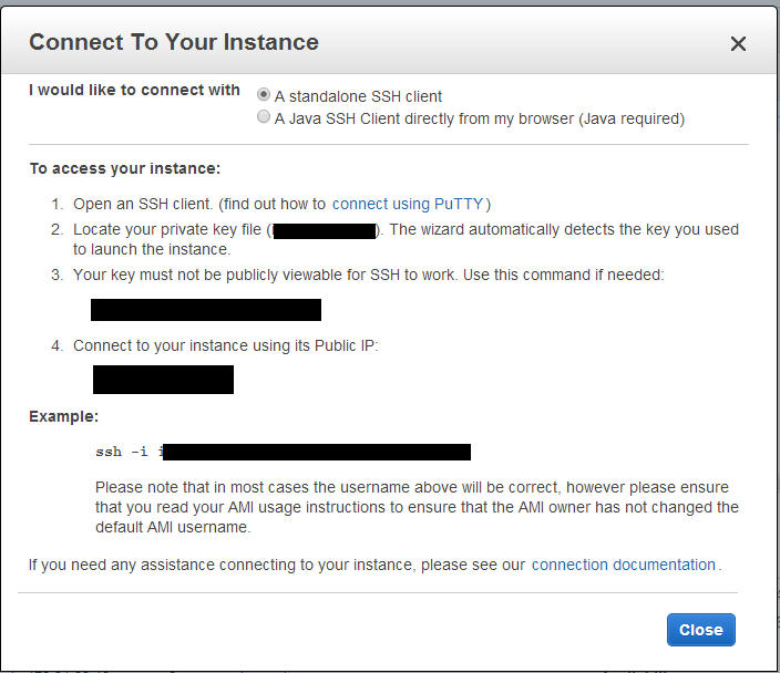 Connect to AWS Instance