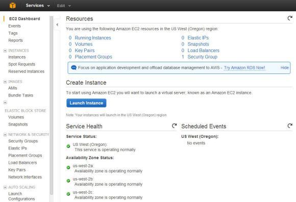 EC2 Dashboard in AWS
