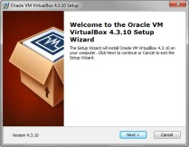 Oracle VirtualBox 4.3.10 Setup Wizard