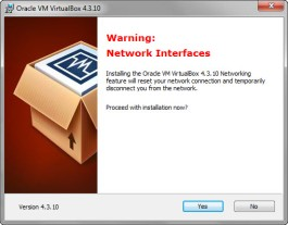 Network Interface Warning