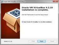 Oracle VirtualBox 4.3.10 Installation completes