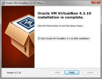 Oracle VirtualBox 4.3.10 Installation completes