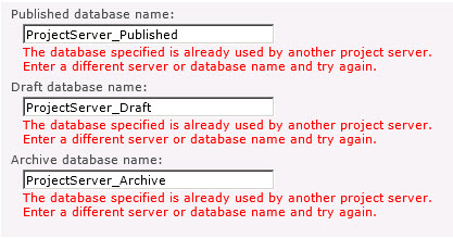 atabase_specified_already_used_another_project_server